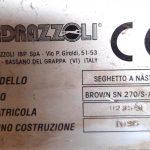 """Segatrice a Nastro Automatica Ibp Pedrazzoli """" Brown SN-270″ -CE"""