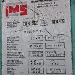 """Punzonatrice Tagliaferri Combinata Multilavorazioni Idraulica IMS Modello Hy 120 – Norme """"CE"""""""