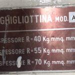 Cesoia a Ghigliottina Meccanica da 1000 x 3 mm Mac far