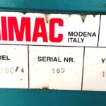 Scantonatrice Idraulica IMAC da 200 x 4 mm ( Norme CE)