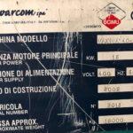 Cesoia a Ghigliottina Warcom Idraulica WarCom Mod. Maxima 4000 x 8 mm Norme CE